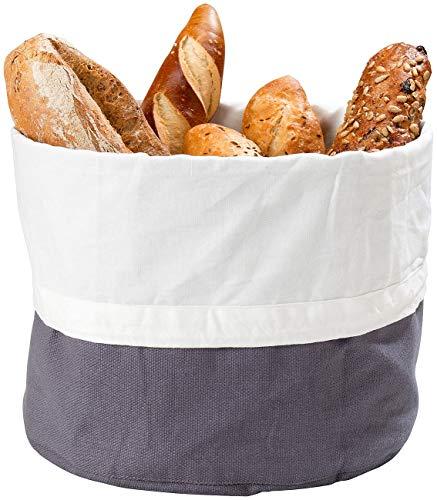 Rosenstein & Söhne Brot-Aufbewahrungsbox: XL-Brotkorb aus 100% Baumwolle, verschließbare Kordel, waschbar, Ø25cm (Brot-Box)