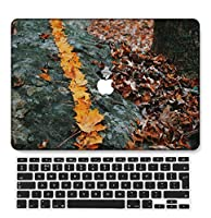 FULY-CASE プラスチック製のウルトラスリムライトハードシェルケース対応のある新しいMacBook Pro 15インチタッチバー/タッチIDUSキーボードカバー A1707/A1990 (植物 0448)
