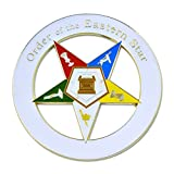 Masonic Exchange White Eastern Star (OES) Auto Emblem Car Decal