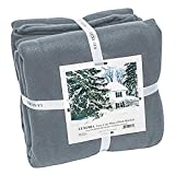 Full Elaine Karen Luxury Fleece Soft Bed Blanket - Breathable Warm and Cozy Lightweight Bed Cover, Perfect Bedspread, Coverlet, Throw for Couch, Sofa – Gray