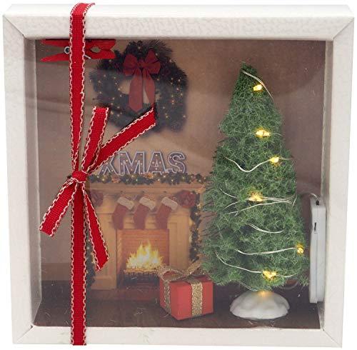 ZauberDeko Geldgeschenk Verpackung Weihnachten Xmas Kamin Geschenk LED Lichterkette Gutschein