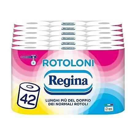 Regina Rolls - Papel higiénico (500 hojas por rollo, 100% certificado FSC, 42 rollos)