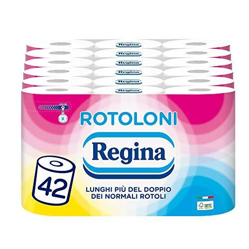 Toilettenpapier Regina 500 Blatt pro Rolle, 100 % FSC-zertifiziertes Papier, 42 Rollen