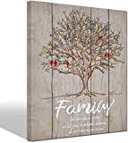 LevvArts - Quote Wall Art Canvas Family Tree Lovebirds Painting Artwork Wedding Modern Home Livinr Room Bedroom Unique Wall Decor