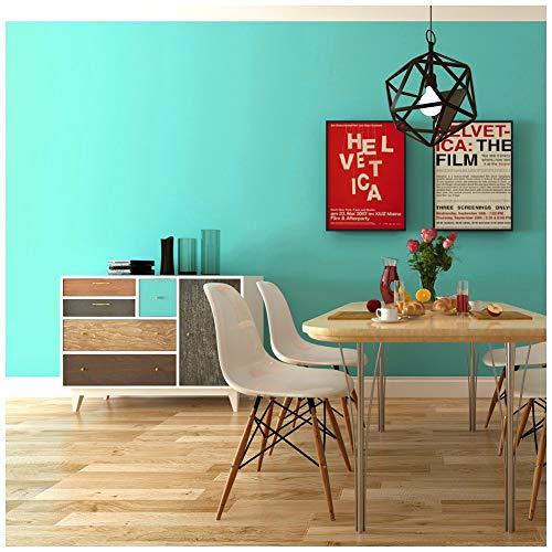 HaokHome 6582 Papel Tapiz Autoadhesivo para Muebles de Pared de Papel de Contacto, de Color Azul Claro 17.7'x 9.8ft