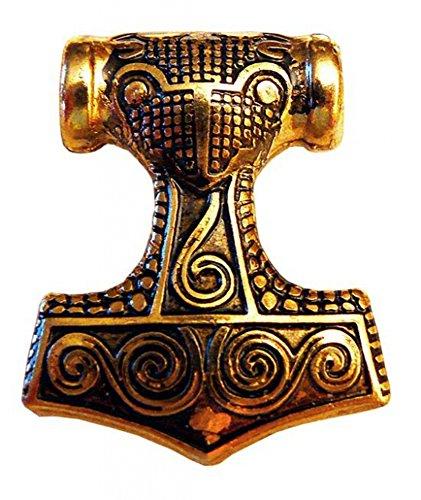 Germanenschmuck Schonenhammer (Thors Hammer) Anhänger (Kettenanhänger in Gold)