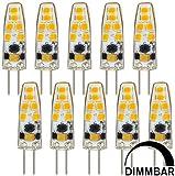 MENGS® 10 Stück Dimmbar G4 LED Lampe 3W AC/DC 12V Kaltweiß 6500K 12x2835 SMD Mit Silikon Mantel