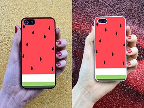 Wassermelone * Handy Hülle Cover für iPhone 4 5 5S 6 Galaxy S4 S5, Handymodell:Apple iPhone 4 / 4S;Randfarbe der Hülle:Schwarz