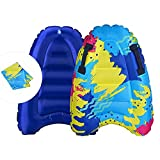 Boogie Boards for Beach Kids Inflatable Bodyboard Surfboards Pool Floating Toys Slip Slide Raft Summer Water Fun Toy Learn to Swimming Mat Portable Light Weight Easy Carry for Travel30IN20IN