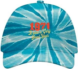 KAJKJKSS 1971 It was A Very Good Year Tie-Dye Vintage Classic Baseball Dad Cap for Men Women Unisex Trucker Hat