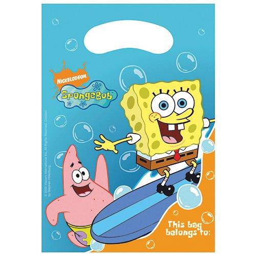 Nickelodeon Bob Esponja Squarepants Party Bags (Pack de 6)