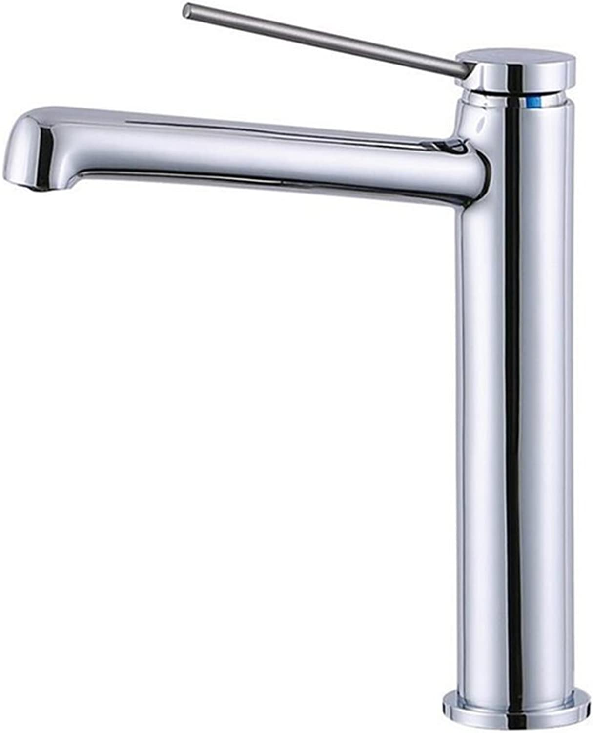 Bathroom Basin Faucet Brass Chrome-plated High Long Taps Lollipop Single Handle Lift Hot And Cold Mixer Tap Bathroom Sink Taps