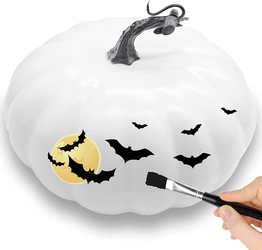 Szsrcywd 7.8 inch White Artificial Online limited product 67% OFF of fixed price Fall Pumpkin H Fake Realistic
