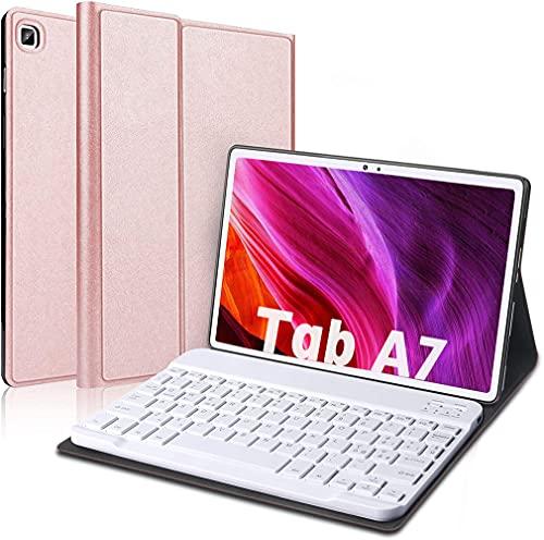 Italiana Custodia con Tastiera per Samsung Galaxy Tab A7 T500/T505/T507 10.4''[Layout Italiano àèòùç§],Rimovibile Custodia Cover con Magnetica Wireless Bluetooth Tastiera