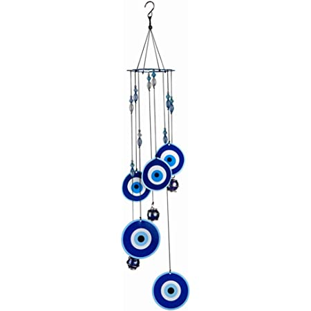 Wind Chimes Turkey Evil Eye Pendants Home Wall Hanging Decorations Protect miWM