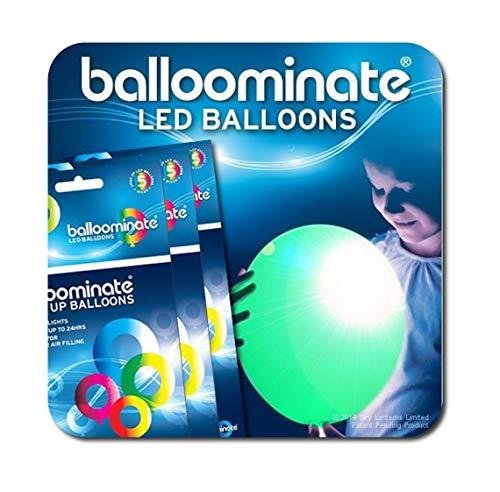Grün–15Pack, grün LED-Licht bis BALLOOMINATE Luftballons. Toll für Partys und Feiern.