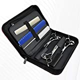 LUKEEXIN Hairstylist Holster Pouch Diamond Pattern Hairdressing Scissors Bag Pets Kit Case
