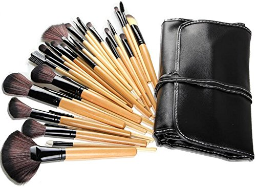 Lumanuby 1set(32pcs) Brosse à maquillage Brush Professionnel Visage Ombre à paupières Modèle de vache Eyeliner Fondation Blush Lip Maquillage Pinceaux Poudre Liquid Cream Cosmetics Blending Brush Tool-