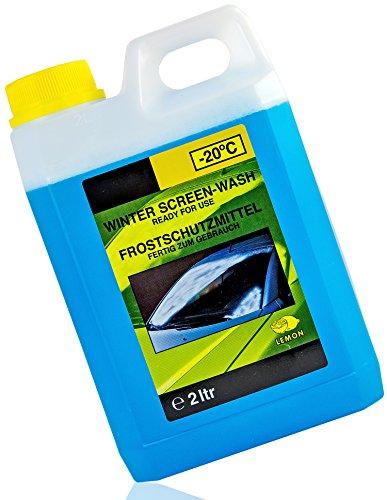 Nick and Ben Scheibenfrostschutz Scheiben-Reiniger Wischwasser 2 Liter Winter-Frost Gebrauchsfertig -20°