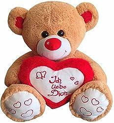 geschenkidee zum valentinstag riesen teddy mit herz. Black Bedroom Furniture Sets. Home Design Ideas