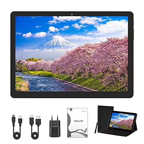 Tablet 10 Zoll (25,53cm) Android 10.0 Tablet PC 4GB RAM/64GB ROM/ 1200x800 FHD, Dual SIM, WLAN, GPS, mit Schutzhülle.(Black)