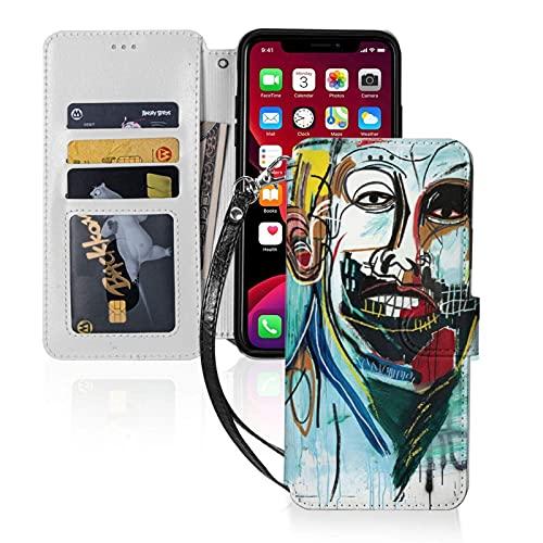 Jean-Michel Basquiat - Funda tipo cartera para iPhone 11 Pro Max-6.5 (con ranuras para tarjetas)