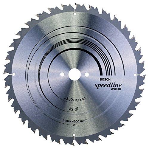 Bosch Professional Zubehör 2608640683 Kreissägeblatt Speedline Wood 350 x 30 x 3,5 mm, 32