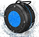 Shower Speaker Bluetooth 5.0, Peyou IPX7 Waterproof Bathroom Shower Radio, Portable Wireless Speaker with Suction Cup, Lould Voice and Rich Bass, Built-in Mic, Mini Speaker Perfect for Outdoor/Gift