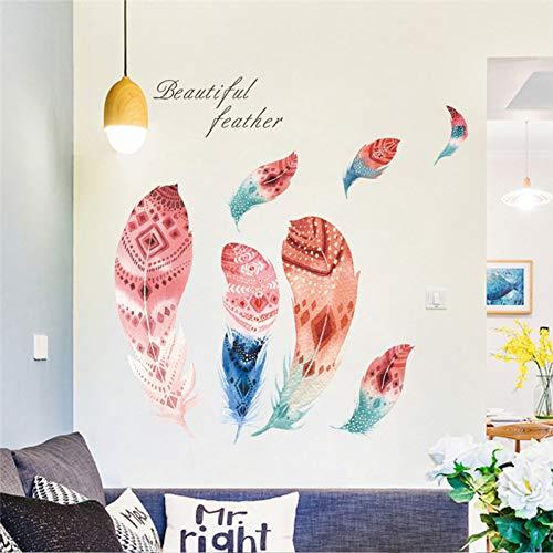 UDPBH - Adhesivos decorativos para pared (30 x 90 cm), diseño de plumas