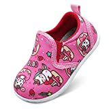 FEETCITY Baby Girls Shoes Casual Sneakers Infant First Walkers Shoes Anti-Slip Crib Shoes 12-18 Months Infant Doll Pink