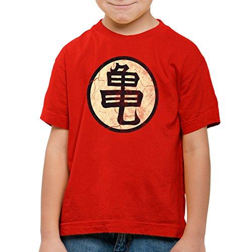 style3 Goku Roshis Turtle School T-Shirt pour Enfants, Color:Rouge;Talla:164