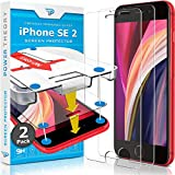 Power Theory iPhone SE 2020 Glass Screen Protector [2-Pack] with Easy Install Kit [Premium Tempered Glass for SE 2]