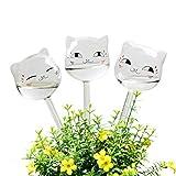 Keemov Lot de 3 bulbes en verre pour plantes en forme de chat avec système...