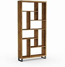 Carbon Loft Rustic Antique Nutmeg 10-Shelf Bookcase - 34.75