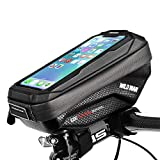 Cheftick Bike Handlebar Bag, Waterproof Bicycle Frame Top Tube Pouch Touchscreen Phone holder Bag with...