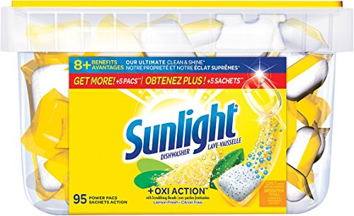 Sunlight , Sunlight lemon fresh dishwasher pacs 95 count