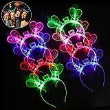 Joyibay 2021 Diademas Luminosa Navidad, 8PCS Diadema Luminosa Año Nuevo 2021 Año Nuevo Led Luz De Fibra Óptica Diademas Decoracion Fiesta