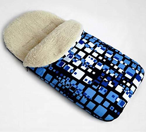 Chancelière universelle en laine pour siège auto poussette 110 cm