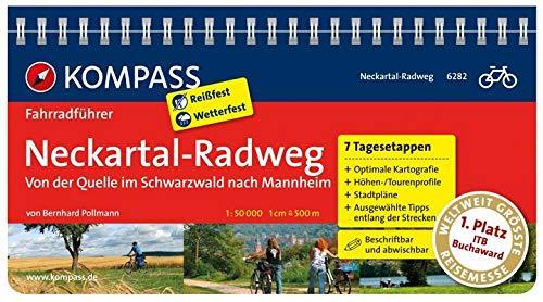 KOMPASS Fahrradführer Neckartal-Radweg, von der Quelle im Schwarzwald nach Mannheim: Fahrradführer mit Routenkarten im optimalen Maßstab.