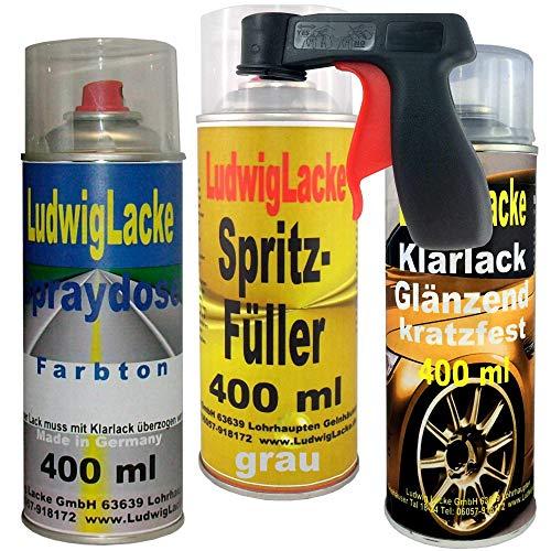 4 TLG. Lackierset Sprayset + Spritzfüller grau + Haltegriff