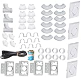 ZVac Universal Central Vacuum 4 Inlet Installation Kit Pre-Packaged with Wall Plates, Elbows, Brackets,...