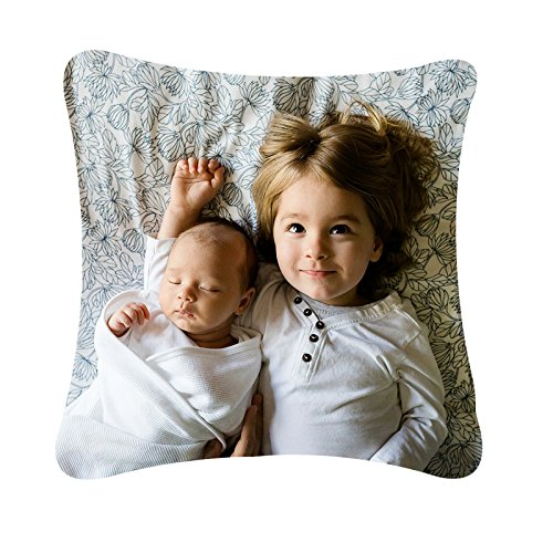 Rucomfy Bean bags Personalised 'My Photo' Cushion includes Fibre Inner (40cm x 40cm)