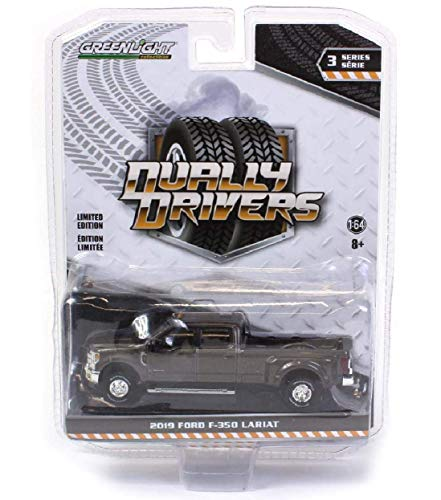 Greenlight 46030-F Dually Drivers Series 3-2019 Ford F-350 Dually - Stone Gray 1:64 Scale