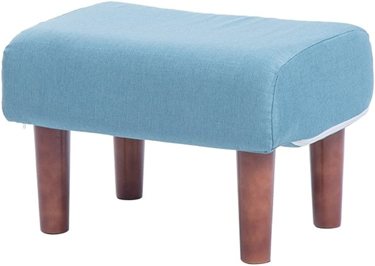 Fabric Sofa Stool,Creative Stool,Portable Non-Slip Sturdy Stools Strong Bearing Capacity for Office Living Room Bedroom-A 50x35x33cm(20x14x13inch)