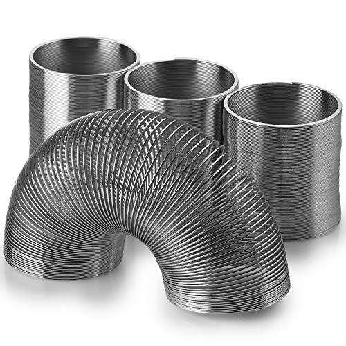 Invero Federspirale aus Metall, spiralförmig, 3 Stück, silberfarben