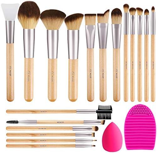 BESTOPE Makeup Brushes 17Pcs Makeup Brush Set with 1 Pcs Silicone Face Mask Brush 1 Makeup Sponge product image