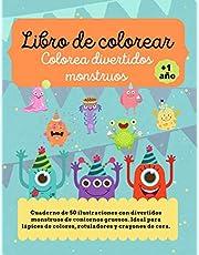 Monstruos Libro de Colorear para Niños y Niñas a partir de 1 año