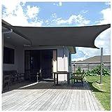 Tenda A Vela Impermeabile , Tenda A Vela Rettangolare , Tenda da Sole A Vela con Blocco UV 98% per Giardino Patio Esterno(Size:5X6m,Color:Grigio)