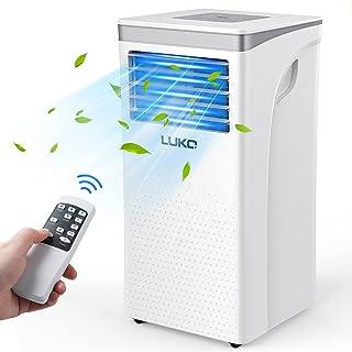 LUKO - Aire acondicionado portátil, enfriador, deshumidificador, ventilador, 12000 BTU, para habitaciones de hasta 450 pies cuadrados; unidad compacta de aire acondicionado apta para habitación, oficina, sala de estar, dormitorio, color blanco