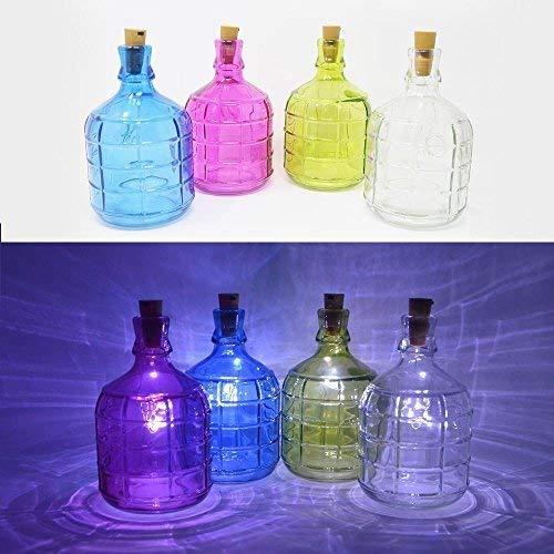 DRULINE 6 LED decoratiefles vaas licht fles kurk LED tafellamp fles verlichting 4er-set (1 X Jede Farbe)